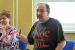 Daniel.Hevier.v.akcii.jpg - Letný žurnalistický seminár 2011
